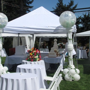 Outdoor Wedding Balloon Columns