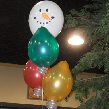 Snowman and Light Bulbs
