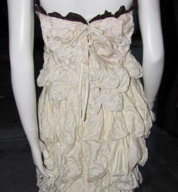 Lace up Back of Balloon Wedding Dress