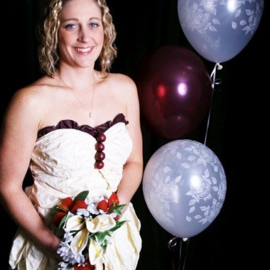 Wedding Dress made entirely of Balloons