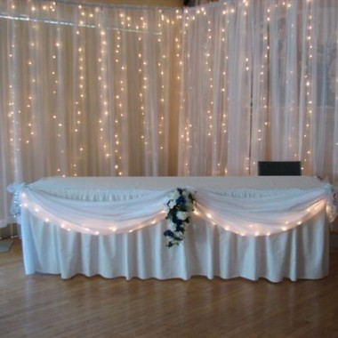 Elegant Backdrop with head table decor
